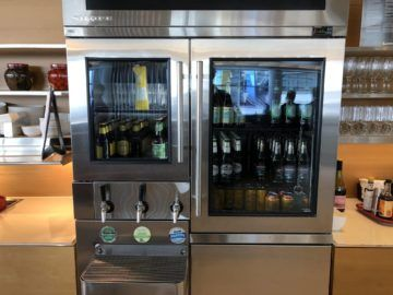 qantas international business lounge sydney auswahl bier