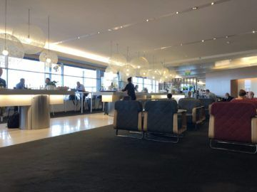 qantas international business lounge sydney blick hauptbereich