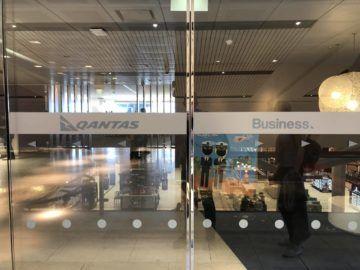qantas international business lounge sydney eingang