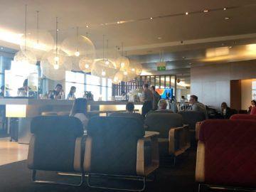qantas international business lounge sydney hauptbereich