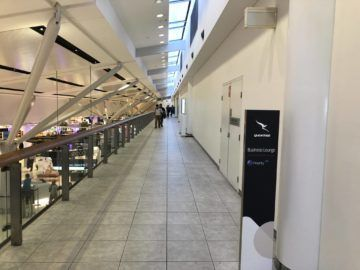 qantas international business lounge sydney weg eingang