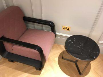 qantas london lounge londonheathrow sitzbereich steckdose