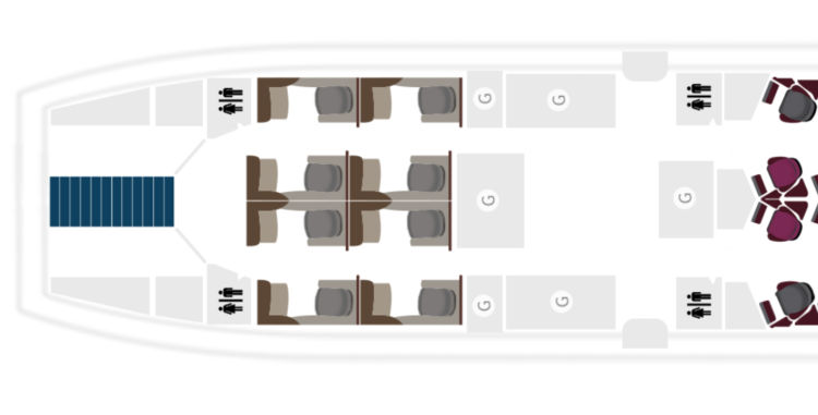 Qatar Airways A380 First Class Seatmap &copy Qatar Airways