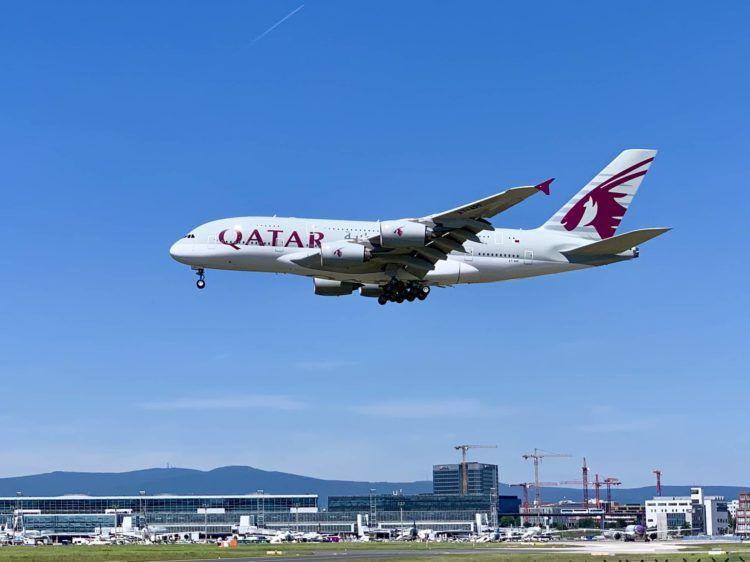 qatar airways a380 flugzeug frankfurt flughafen