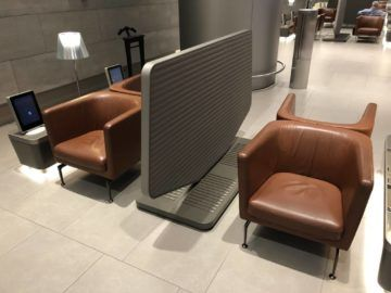 Qatar Airways Al Mourjan Business Class Lounge Sitzoption Sessel