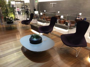 Qatar Airways Al Mourjan Business Class Lounge Sitzoption