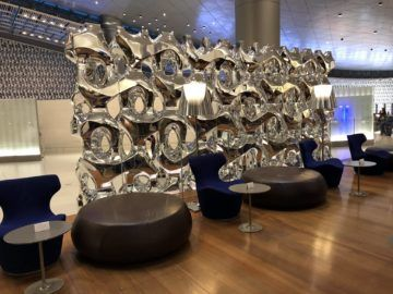 Qatar Airways Al Mourjan Business Class Lounge Sitzoption Lounge