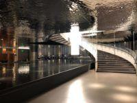 qatar airways al mourjan business class lounge treppe restaurant