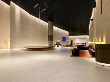 qatar airways al safwa first class lounge doha lobby 1