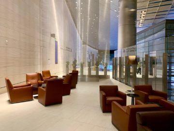 qatar airways al safwa first class lounge doha sitzgelegenheiten aussen