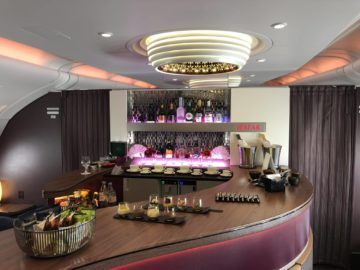 qatar airways business class a380 bar hell