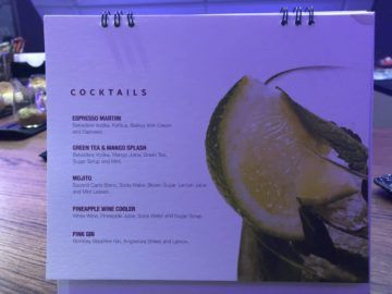 qatar airways business class a380 cocktails2