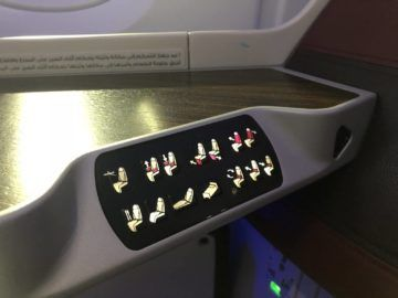 qatar airways business class a380 einstellmoeglichkeiten sitz