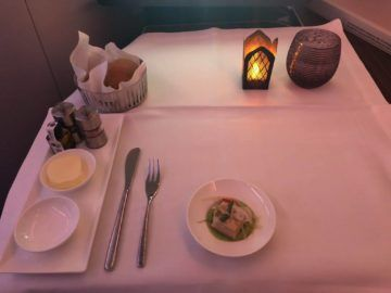 qatar airways business class a380 gruss kueche