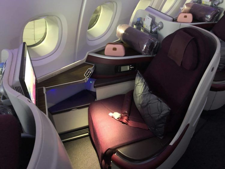 qatar airways business class a380 sitz