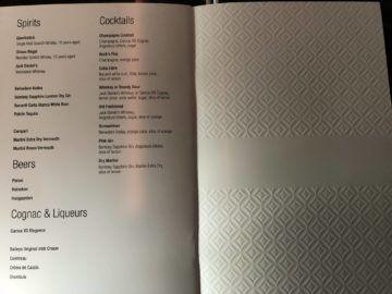 qatar airways business class boeing 777 200lr getraenkeliste