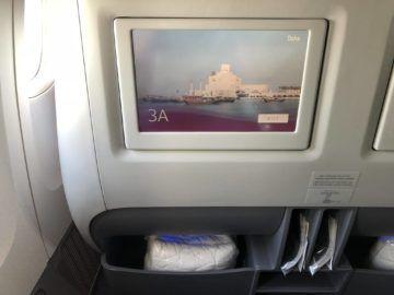 qatar airways business class boeing 777 200lr monitor staufach