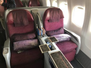 qatar airways business class boeing 777 200lr reihe3