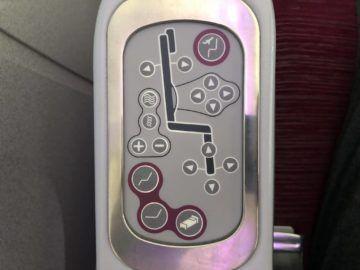 qatar airways business class boeing 777 200lr sitzeinstellung