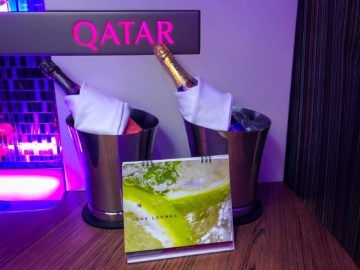 qatar airways champagner bar