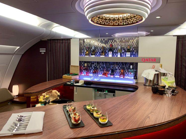 qatar airways first class a380 bar 1