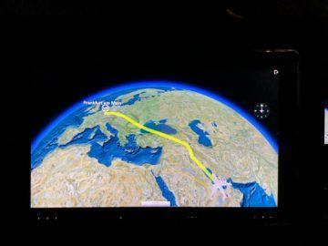 qatar airways first class a380 flightshow 1