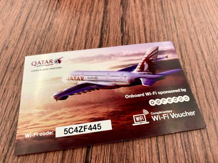 Qatar Airways First Class A380 Internet Gutschein