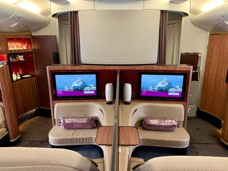 qatar airways first class a380 kabine 1