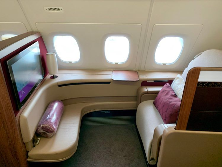 qatar airways first class a380 sitz 1