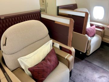 qatar airways first class a380 sitz 6