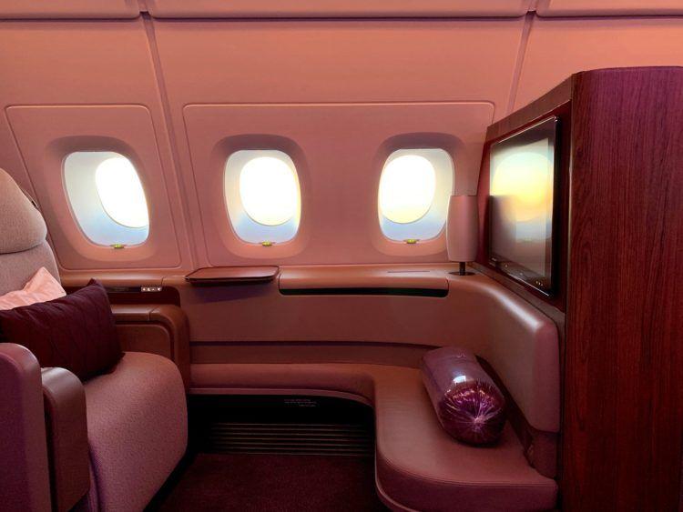 qatar airways first class a380 sitz 7