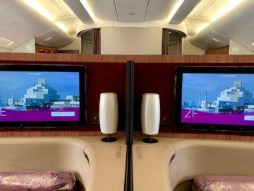 qatar airways first class a380 sitz mitte