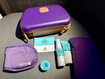 qatar airways qsuite boeing 777 300er amenity kit 2