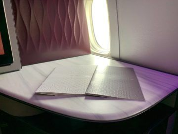 qatar airways qsuite boeing 777 300er business class menu 0