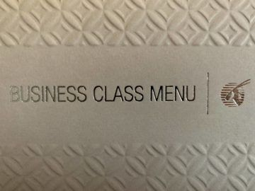 qatar airways qsuite boeing 777 300er business class menu 1