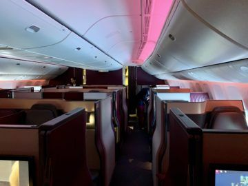 qatar airways qsuite boeing 777 300er kabine 1