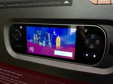 qatar airways qsuite boeing 777 300er konsole