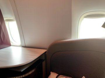 qatar airways qsuite boeing 777 300er sitz fenster