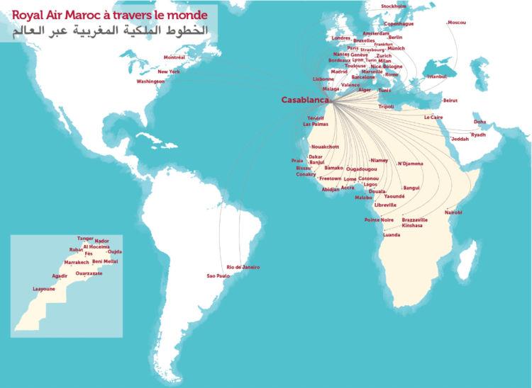 royal air maroc destinations map