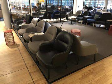 SAS Gold Lounge Oslo-Gardermoen Sessel in der Lounge