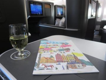sas business class a340 champagner 2