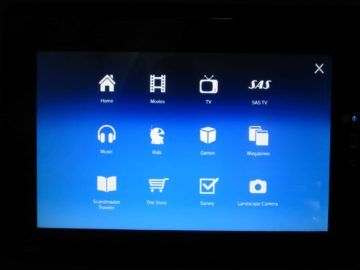 sas business class a340 entertainment system 0