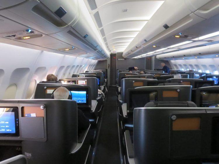 sas business class a340 kabine 1