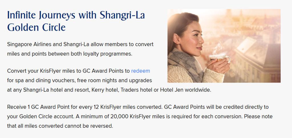 Shangri-La KrisFlyer Infinite Journeys