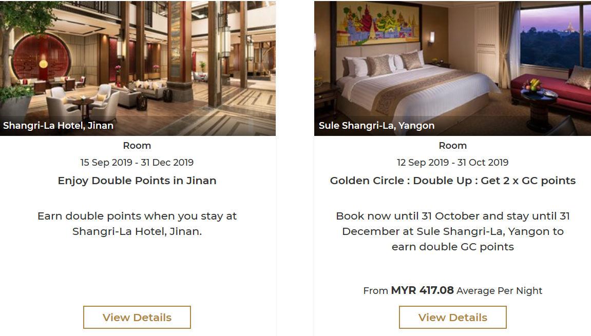 Shangri-La Punkte sammeln Offers