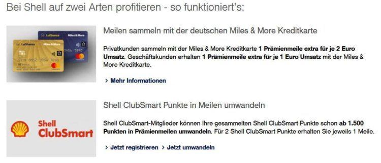 Bei Shell miles and more meilen sammeln