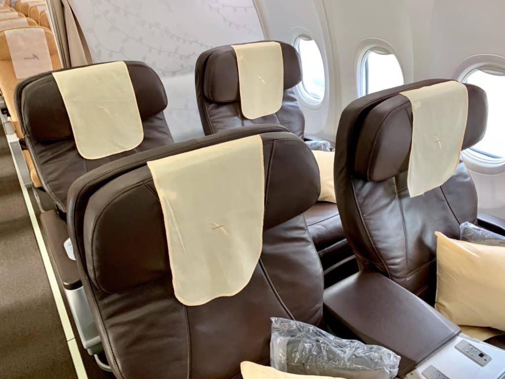 SilkAir Business Class in der Boeing 737-800