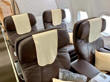 silkair business class boeing 737 800 kabine 1