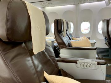 silkair business class boeing 737 800 kabine 2