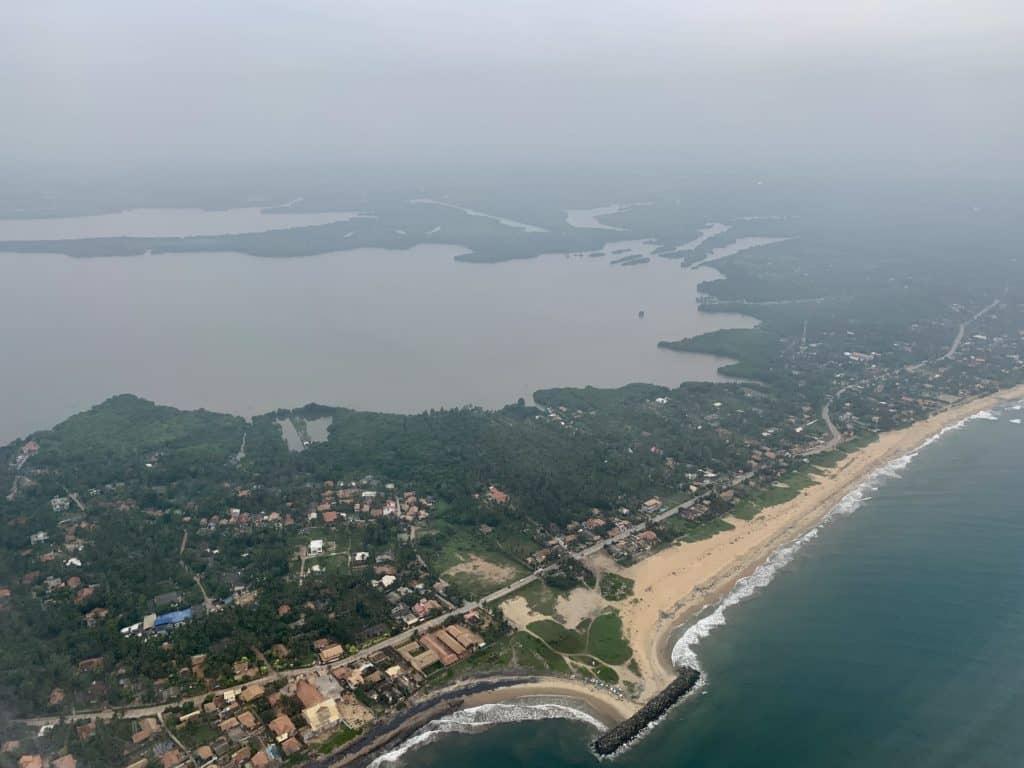 Landeanflug auf Colombo